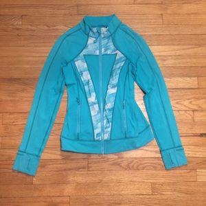 Ivivva girls teal zip up jacket - sz 14